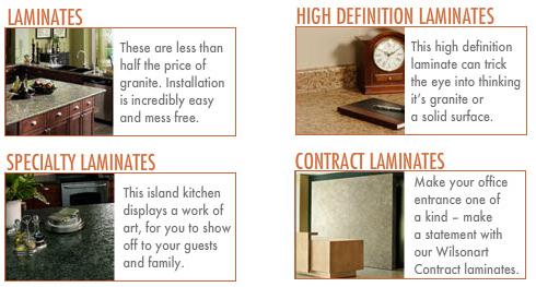 Laminates: Laminates. High Definition Laminates. Specialty Laminates. Contract Laminate.