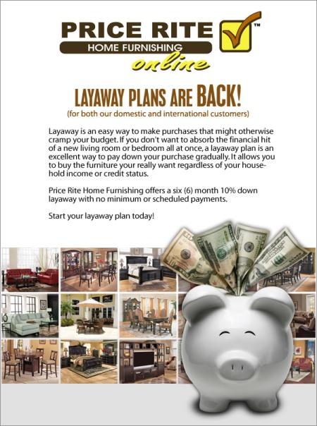 Price Rite Layaway Plans