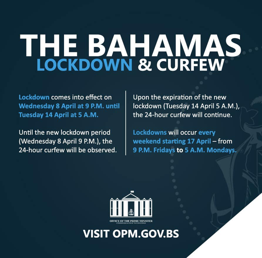 Lockdown and Curfew in The Bahamas April 2020