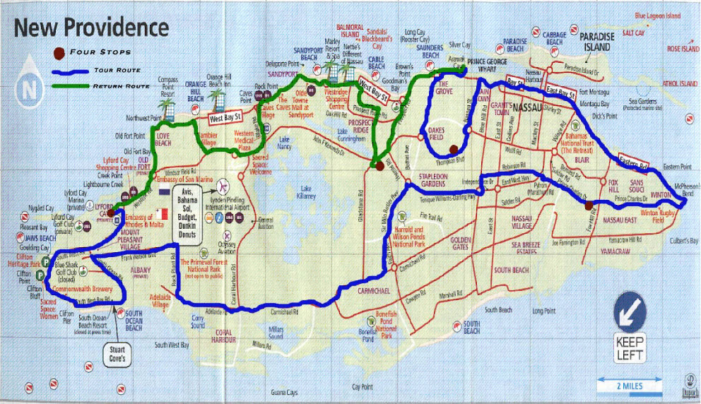 Speed Week Cars to Zip Through Island Thursday in Display of – Nassau Tourist Map