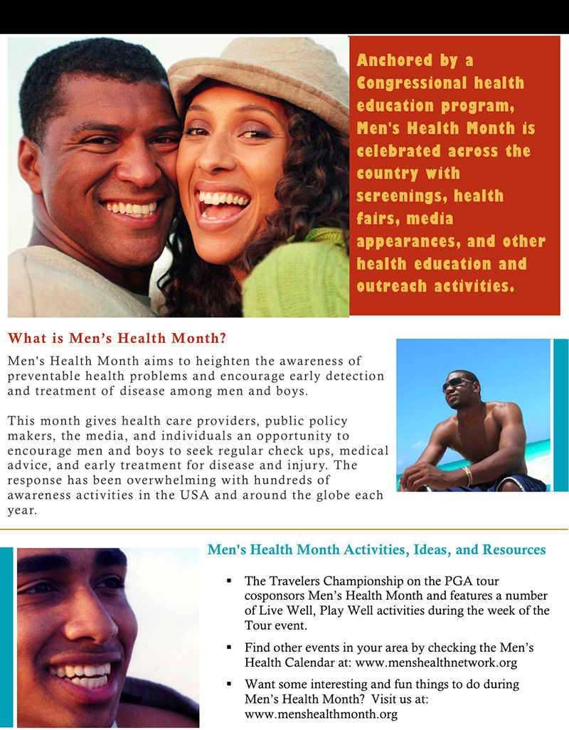 What Is Men's Health Month