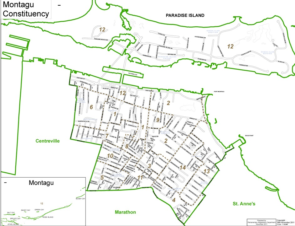 Montague Constituency Map