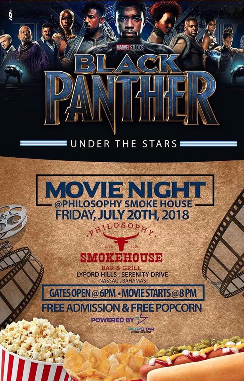 Movie Night Under The Stars - Black Panther  Hosted by Philosophy Smokehouse - Bar & Grill and Pupstar Entertainment & Events