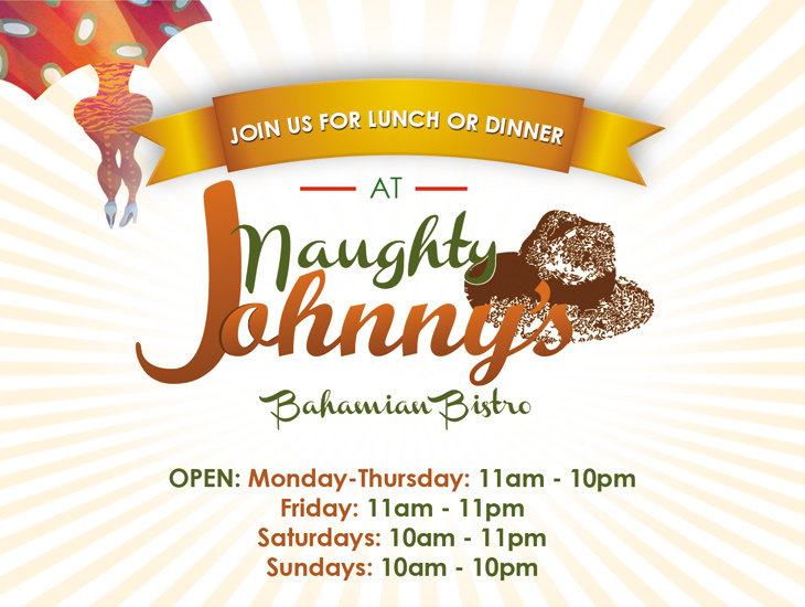Join Naughty Johnnys For Lunch or Dinner