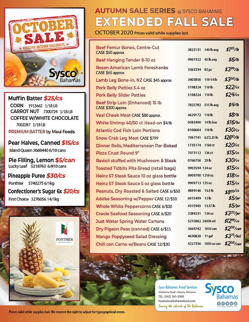 Sysco Bahamas Autumn Sale Series
