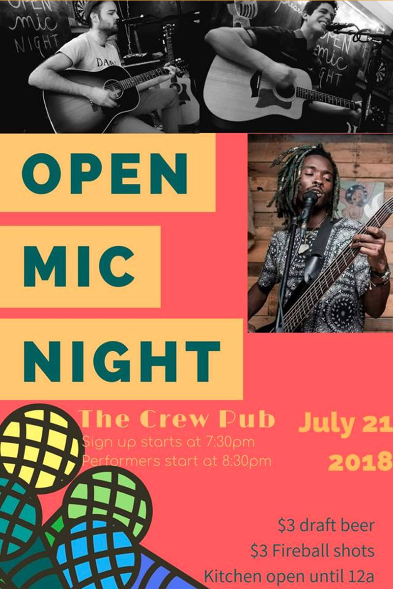 Open Mic Night at The Crew Pub