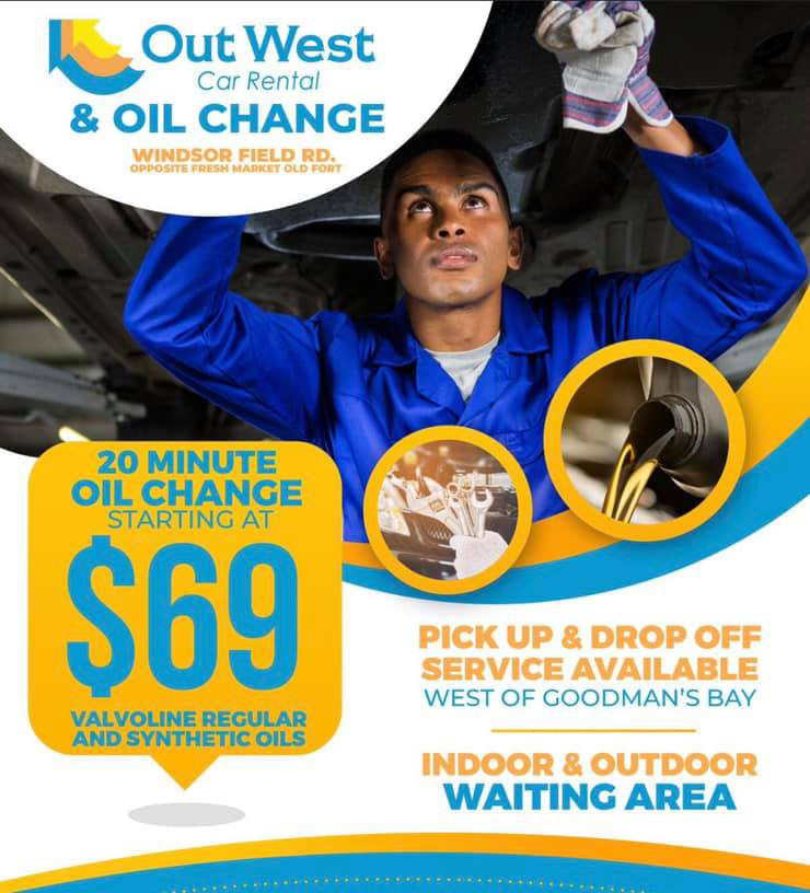 Out West Car Rental - 20 Minutes Oil Change
