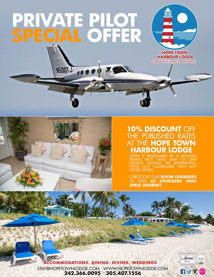 Hope Town Harbour Lodge Private Pilot Special Offer
