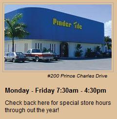 Pinder Tile Opening Times