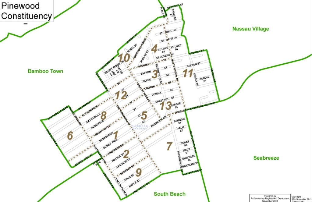 Pinewood Constituency Map