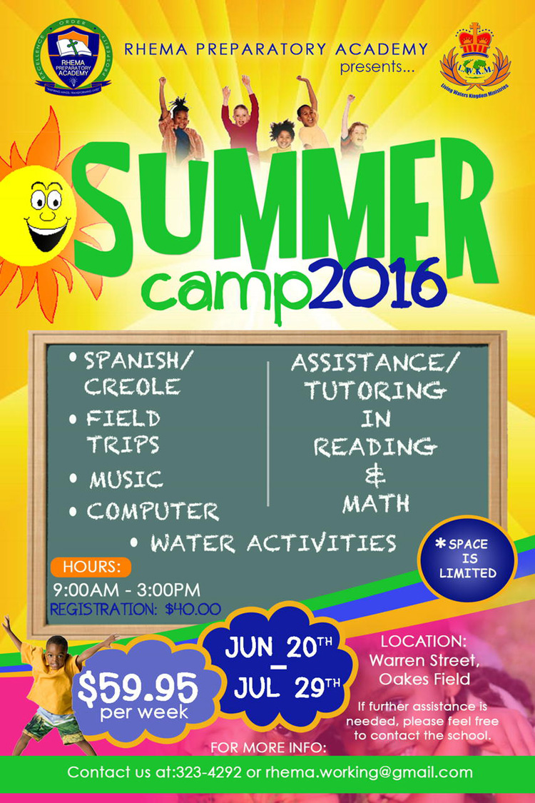 Rhema Preparatory Summer Camp 2016