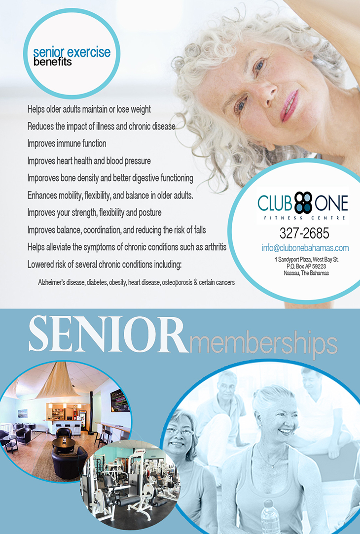 Senior Exercise Benefits at Club One Fitness Centre