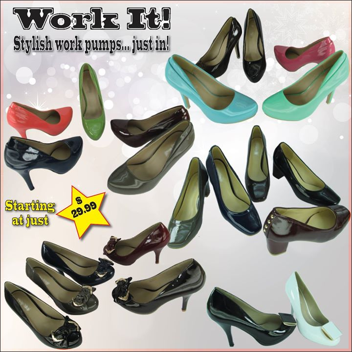 Wonderful work pumps just arrived in Shoe Depot stores