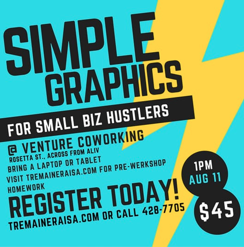 Simple Graphics For Small Biz Hustlers Werkshop
