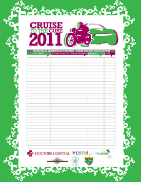 Cruise To The Cure Sponsorship Form 2011