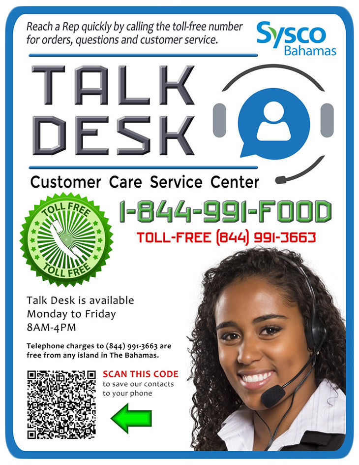 Sysco Bahamas Food | Talkdesk Customer Care Service Center