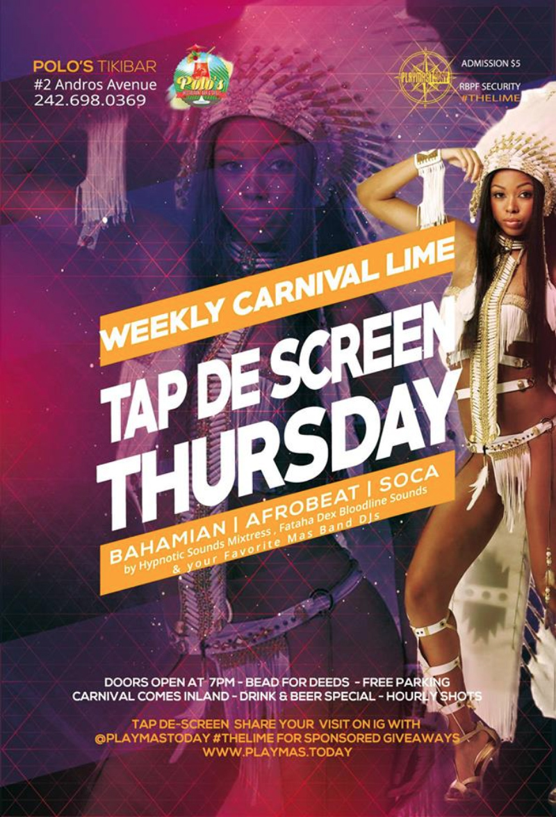 Tap De Screen Thursday - Weekly Bahamas Carnival Lime
