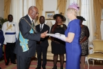 Ambassador-Designate of Romania Presented Letters of Credentials at Government House