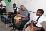 C. V. Bethel School Showcased Bahamian Music and Learned Cuban Drumming