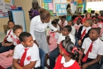 Emma E. Cooper Primary School in Palmetto Point Gets a Visit from Mrs. Minnis