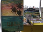 Bahamian Jamaal Rolle Was a Featured Artist at Art Fort Lauderdale Unveiled His Newest Art Form: Transformative Coastal Landscapes of The Bahamas