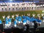 Team Bahamas Enters Olympic Stadium