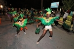 Minister Rolle Joins in Cheering in the San Salvador Junior Junkanoo Parade