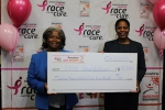 Sunshine Insurance Race Weekend donates $50,000 to help fight Cancer