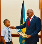 Long Island's Mangrove Bush Students Pay Courtesy Call on the Prime Minister