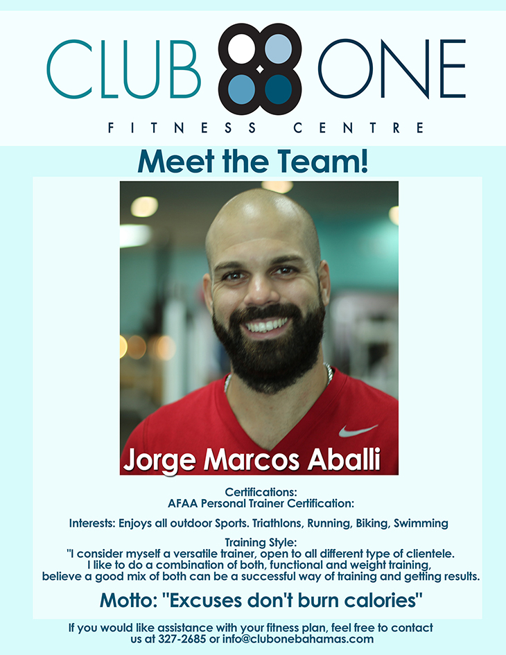 Meet The Team. Trainer of The Month at Club One Fitness Centre