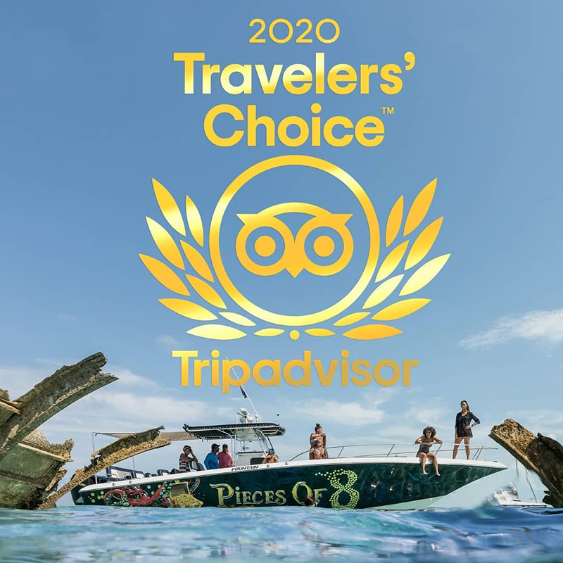 Pieces of 8 Charters. Travelers' Choice! We're top 10% of attractions worldwide!