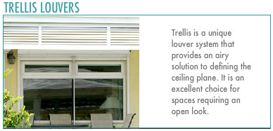 Customized Louvers: Trellis Louvers.