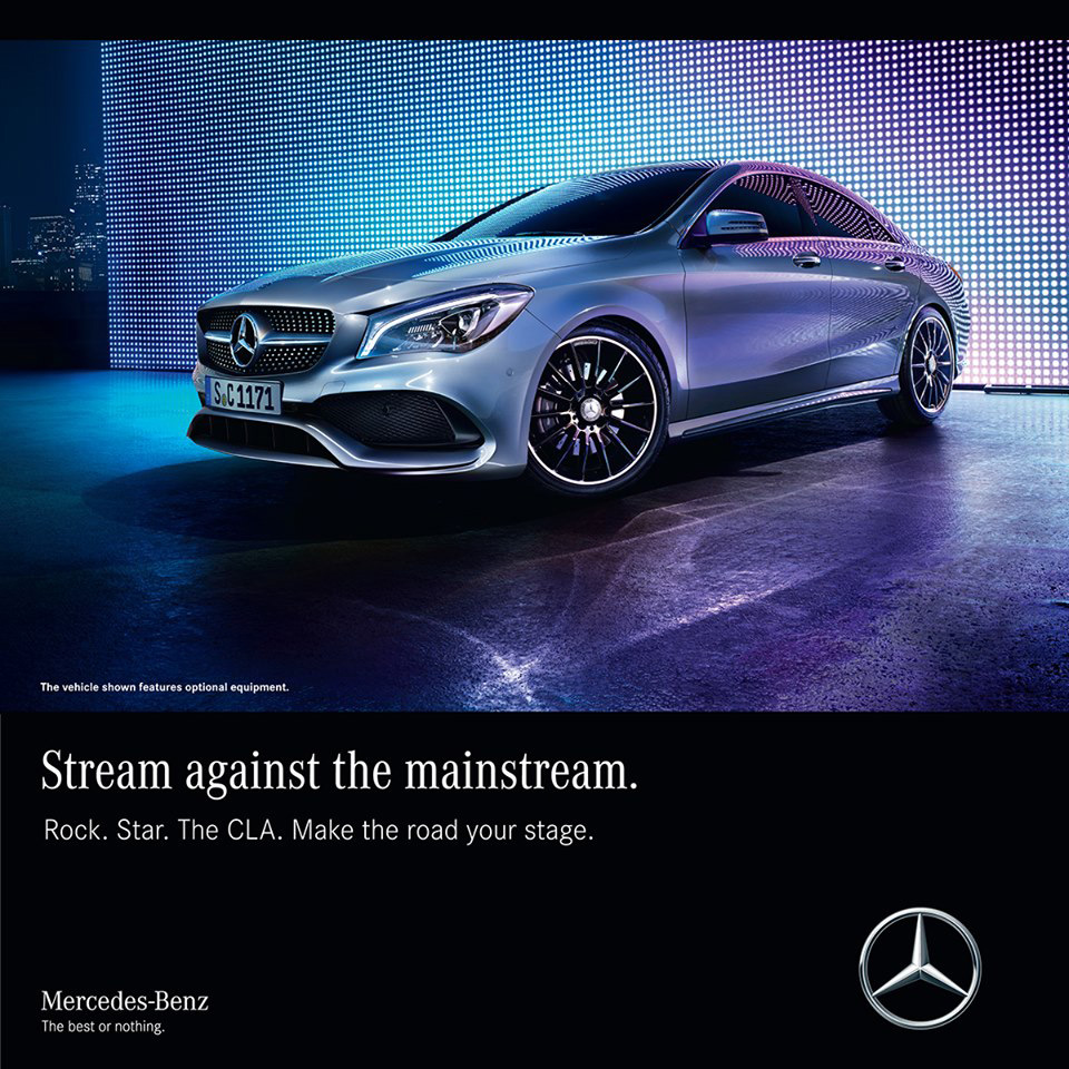 Be the centre of attention! The MercedesBenz CLA