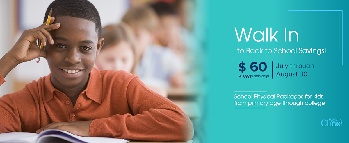 Back To School Savings At Walk-In Medical Clinic