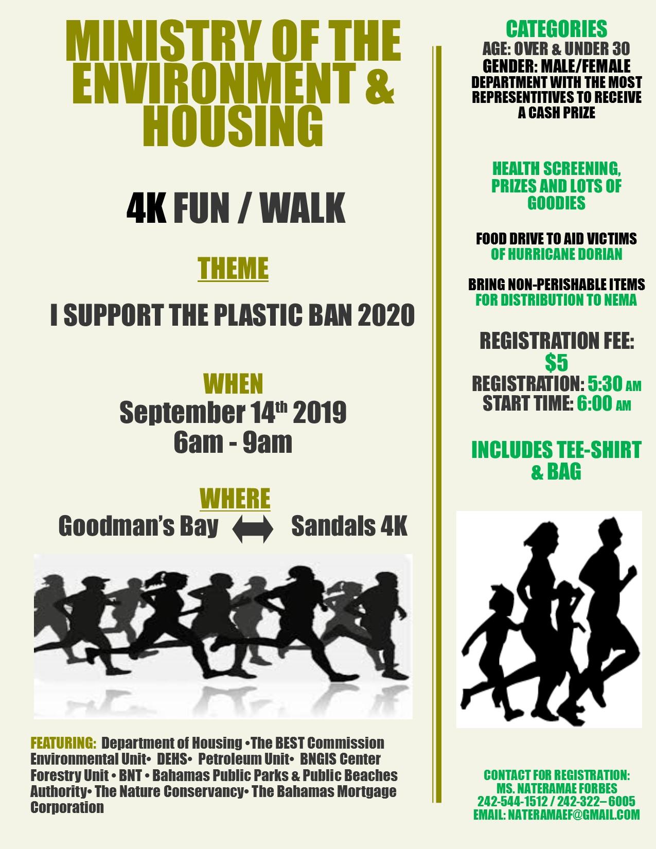 4K Fun/Walk - I Support the Plastic Ban 2020