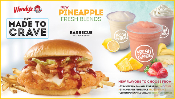 Wendy's NEW Made To Crave And NEW Pineapple Fresh Blends