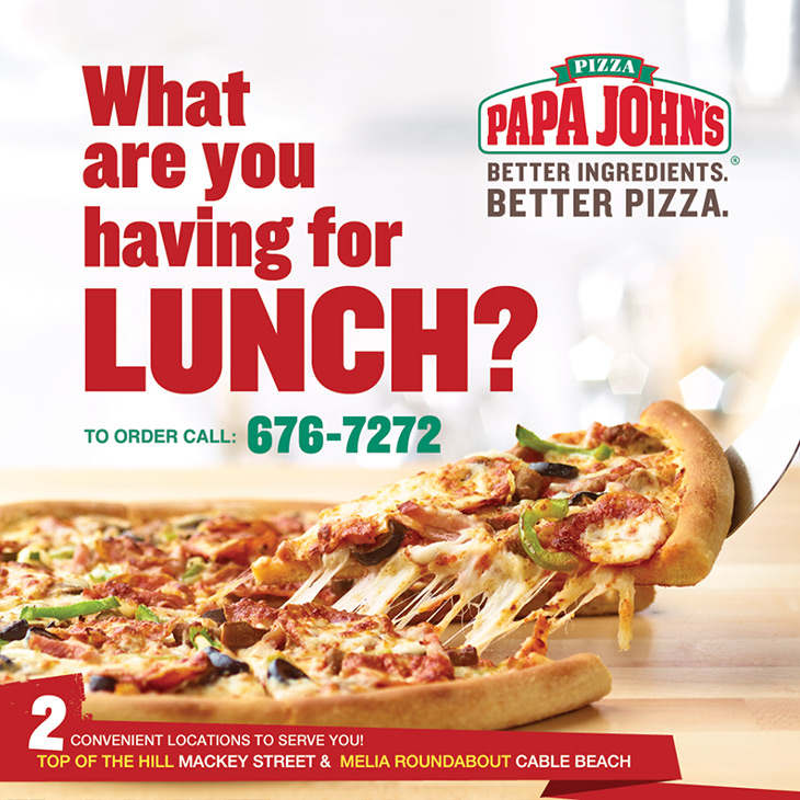 Papa Johns Pizza | What Are You Having For Lunch?
