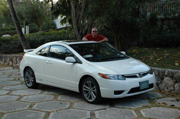 Stolen White Honda Car