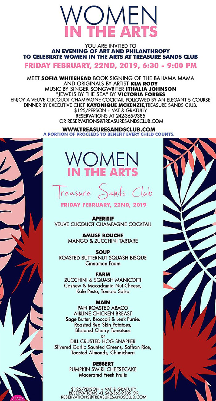 Women in the Arts Treasure Sands Club