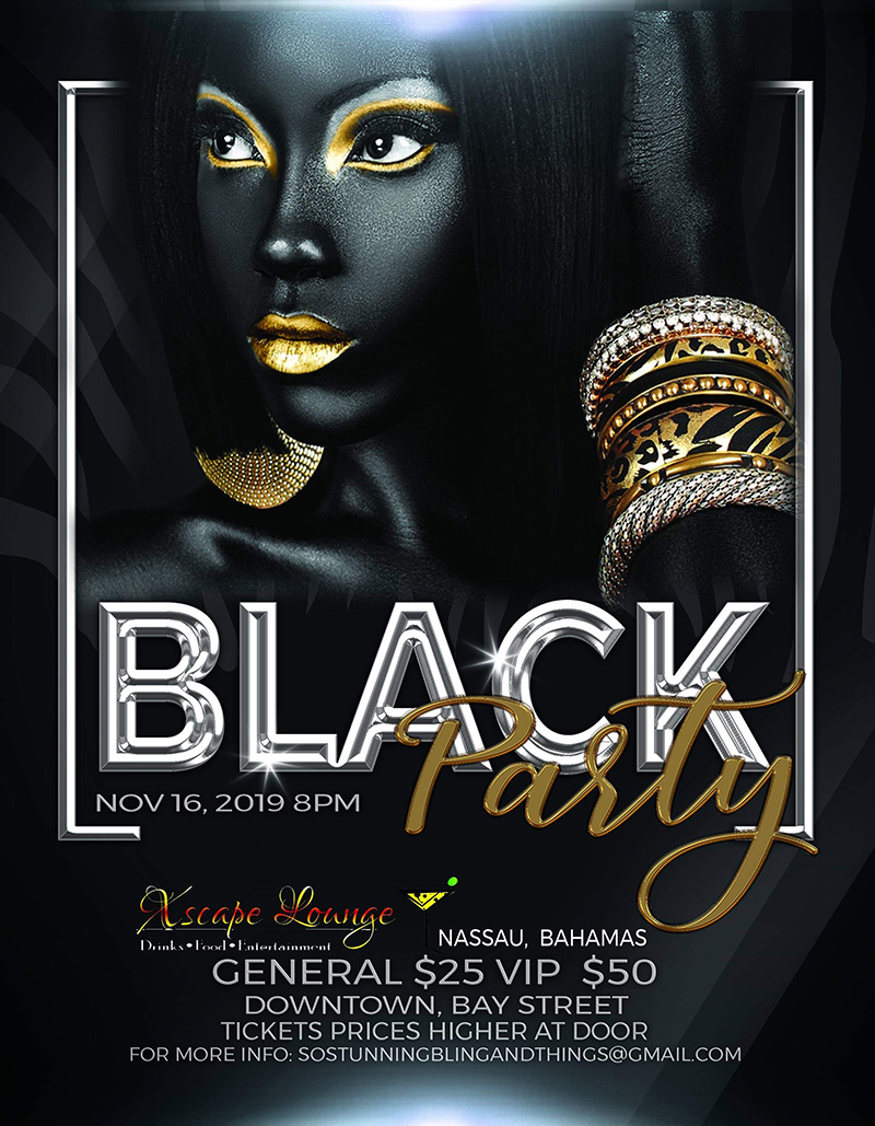 Black Party Event At The Xscape Lounge