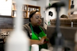 Starbucks baristas do battle today before the first milk is even steamed, one competitor bows out