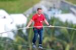 Nik Wallenda sets new world record with high-wire bicycle ride in The Bahamas